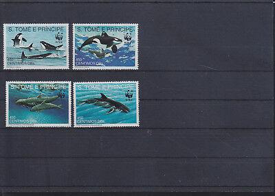 055111 Wale Whales S Tome E Principe 1302-05 ** MNH Year 1992