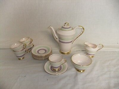 C4 Porcelain Tuscan China Plant Coffee service (13 pieces) 8C5B