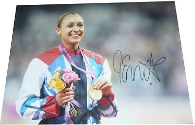 Jessica Ennis London 2012 Olympics SIGNED AUTOGRAPH 16x12 Photo GOLD AFTAL UACC