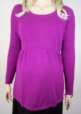 NEW PLUS Size Berry Scoop Neck Cotton Babydoll Empire Maternity Sweater 26-28W