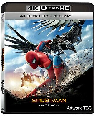Spider-Man Homecoming  Blu-Ray 4K Ultra Hd+Blu-Ray