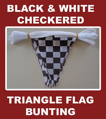 Checkered Flag Bunting 20 Polyester Chequered Flags AUSPOST REGISTERED TRACKING