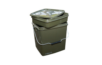 Trakker Carp Fishing NEW 13 Ltr/13L Square Bait/Spod Bucket/Container & Tray