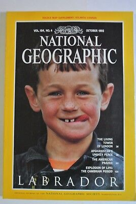 National Geographic Magazine. October, 1993. Labrador. The American Prairie.