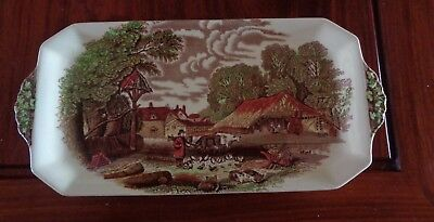 A J Wilkinson Royal Staffordshire Pottery RURAL SCENES Sandwich Serving Plate