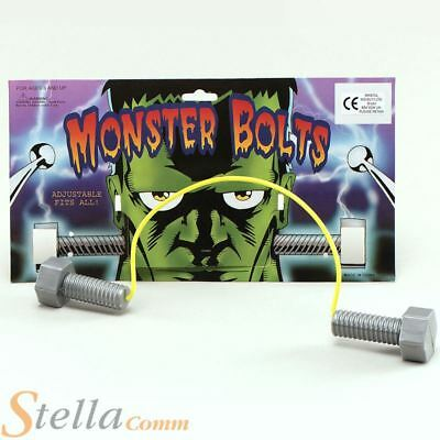Frankenstein Monster Neck Bolts Halloween Fancy Dress Costume Accessory