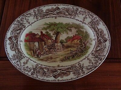 A J Wilkinson Royal Staffordshire Pottery RURAL SCENES Small Serving Platter