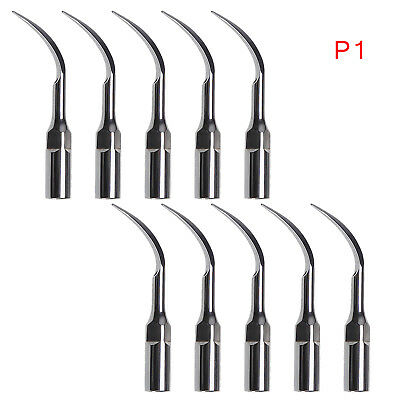 10 pcs Dental Ultrasonic Scaler Scaling Tips P1 Fit EMS/WOODPECKER Handpiece