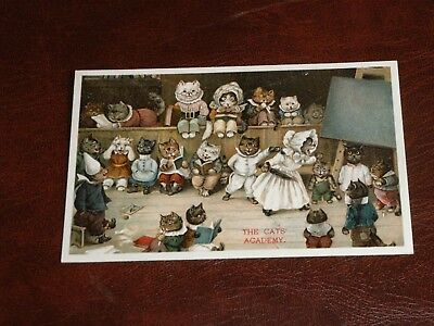 ORIGINAL LOUIS WAIN CAT POSTCARD - THE CATS' ACADEMY  - ERNEST NISTER No. 353.