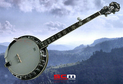 New 5-String Banjo Nbj45 Fully Setup Superb Quality Free Shipping