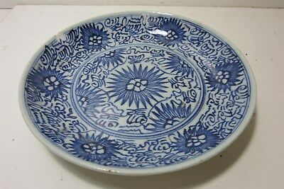 "Antique Chinese Jiaqing period 1810-1820 Hand Painted 9"" Plate"