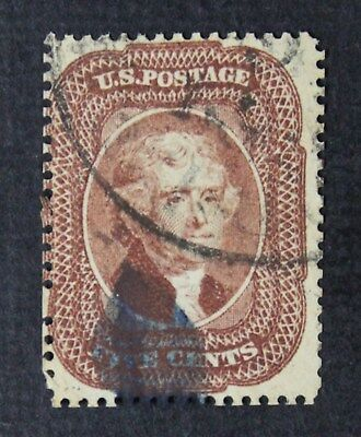 CKStamps: US Stamps Collection Scott#29 5c Jefferson Used Reperf CV$400