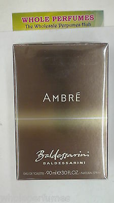 Baldessarini Ambre Men Hugo Boss 3.0/ 3 Oz/90 Ml Eau De Toilette Edt Spray Nib