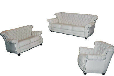 ledercouchgarnitur 3 2 1 couch ledercouch eur 50 00 picclick de. Black Bedroom Furniture Sets. Home Design Ideas