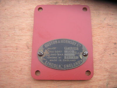 Ruston Hornsby Pt Makers Plate