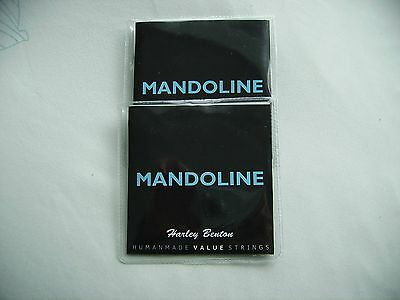 TWO SETS mandoline strings stainless steel/bronze wound,loop end