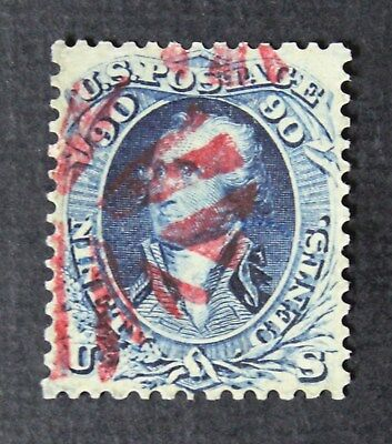 CKStamps: US Stamps Collection Scott#72 90c Washington Used Reperf CV$600
