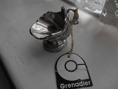 Grenadier Collection - silver plate miniature coal scuttle with vine pattern