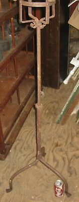 Antique Architectural Garden Home Wrought Iron Rod Candle Candlelabra Pole Stand
