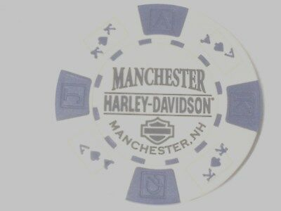 """Harley Poker CHIP     """"LIVE FREE OR DIE""""     MANCHESTER, NH    GRAY"""