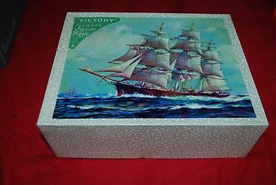 Vintage Victory 800 Piece Wooden Jigsaw  Sailing Ship   Complete - 793 Pieces