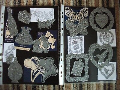 Large Mixed Job Lot of Beautifully Detailed Dies & Magnetic Storage Sheets - NEW
