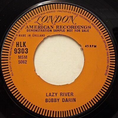 BOBBY DARIN - Lazy River / Oo-Ee-Train .. 1961 Uk London 45rpm  DEMO