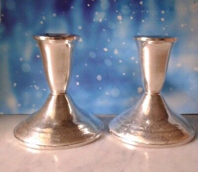 Pair Sterling Silver Weighted Candle Stick Candle Holders Duchin Creation