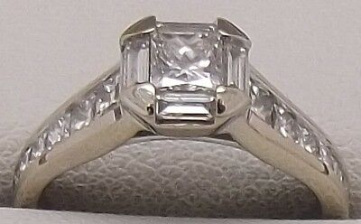 Solid 18Ct White Gold Natural Diamond Engagement / Dress Ring Valued At $4120