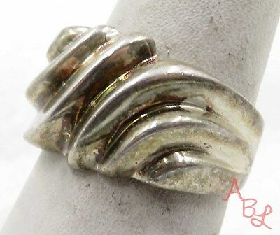 Sterling Silver Vintage 925 Dome Shell Band Ring Sz 8 (7g) - 575598