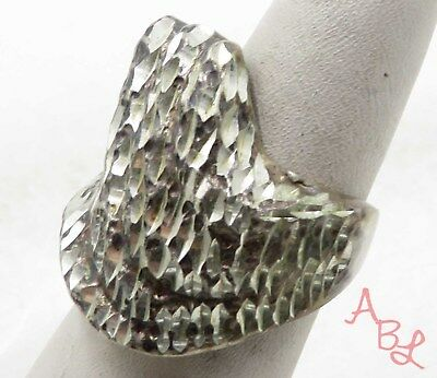 Sterling Silver Vintage 925 Large Heavy Band Ring Sz 6.5 (15.5g) - 575765