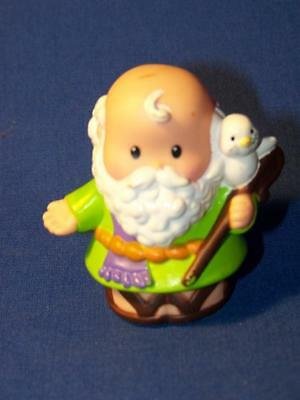 Fisher Price Little People Noah Grandpa With Bird Staff