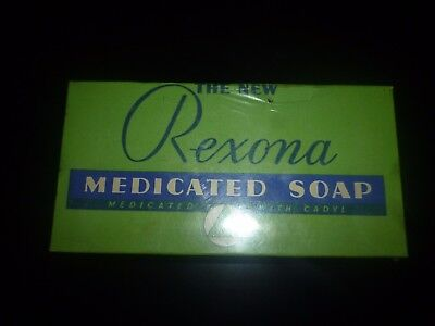 VINTAGE 1950's-60's REXONA MEDICATED SOAP With CADYL Mint Sealed