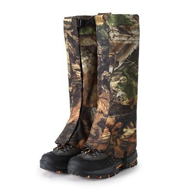 1 Pair L Camo Waterproof Outdoor Walking Hiking Hunting Snow Legging Gaiters