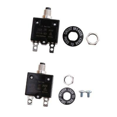 Thermal Overload Circuit Breaker 125VAC 250VAC 50VDC Push Button - 20A&40A
