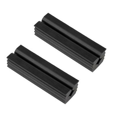 2Pcs Golf Repair Regripping Reshafting Solid Rubber Shaft Vise Clamp