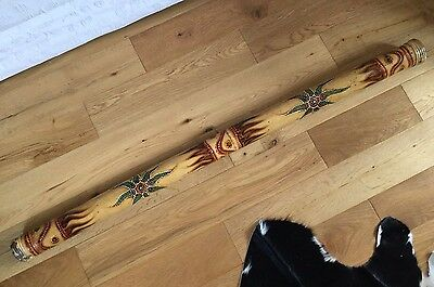 Giant 4 Ft Finely Decorated Rain Stick / Rainmaker Indonesian Or Australian Vgc