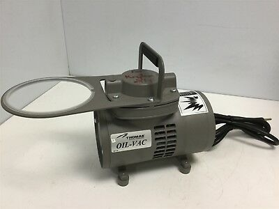 Thomas 927 Series Diaphragm Compression/Vacuum Pump Ports 1/4 NPT Voltage 115VAC