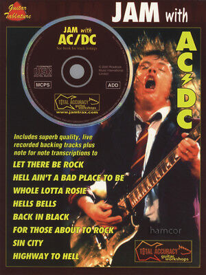 Jam With AC/DC Guitar TAB Music Book & Play-Along Backing Tracks CD