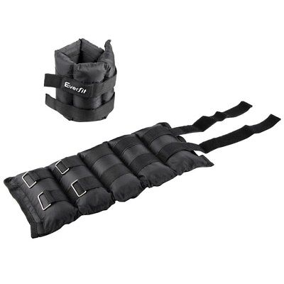 2 x 5 KG Wrist Ankle Weights Gym Training with Adjustable Pair Strap