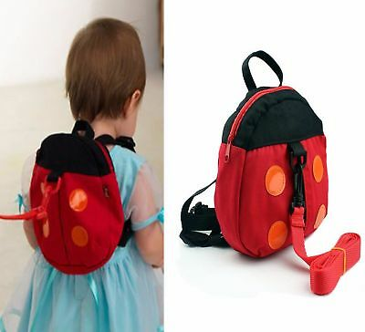 NEW Baby Kids Keeper Toddler Safety Harness Backpack Anti-Lost Leash Red Ladybug