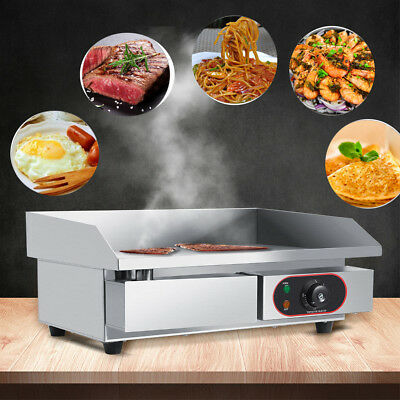 3000W 55CM Commercial Electric Countertop Griddle Stainless Steel Cooking Plate