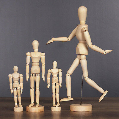 Artists Wooden Toy Movable Limbs Human Joints Mannequin Figure Fashion Tool.