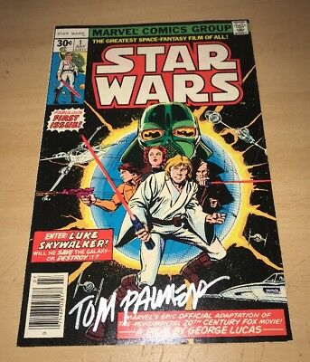 Original Star Wars #1 Signed By Tom Palmer With Certificate If Authenticity!!