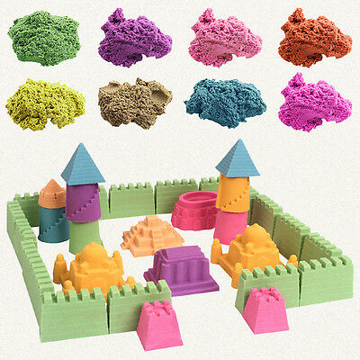Kinetic Magic Motion Colorful Sand Kid DIY Indoor Play Craft Non Toxic Toy Gift.