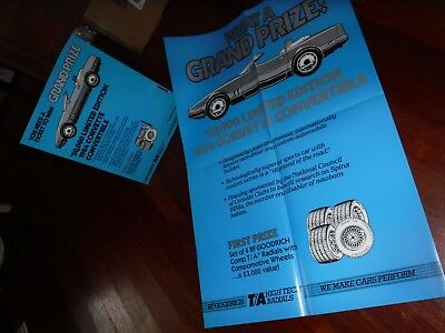 Ja20) What A Grand Prize Bf Goodrich 1984 Corvette Ad Cards & Poster