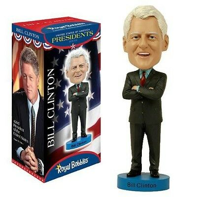 ROYAL BOBBLES Figure Statuette BILL CLINTON President USA 20cm BOBBLE HEAD