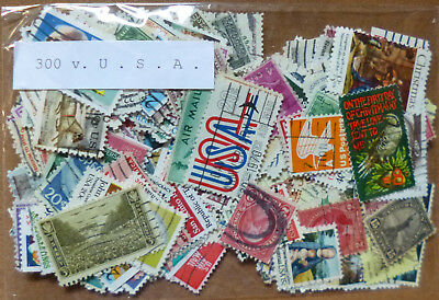 UNITED STATES USA Collection Packet of 300 Different Stamps postmarked Used