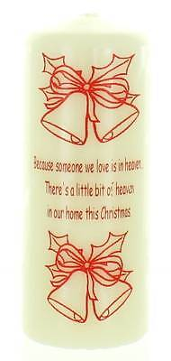 Large In Loving Memory At Christmas Graveside Candle -Open Heaven in Home