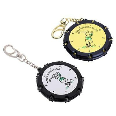 Set of 2 Golf Score Counter 18 Holes Round Scoring Tag with Keychain